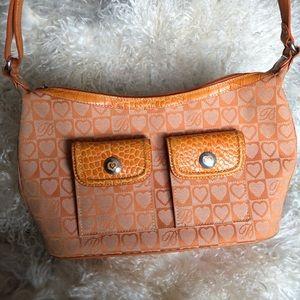 Brighton monogram purse in orange